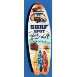 Magnet Capbreton surf bois