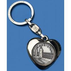 Porte-clé Capbreton Estacade coeur