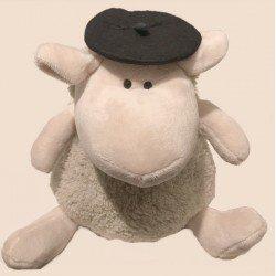 Peluche mouton béret noir