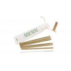 BAM, pailles en bambou et écouvillon